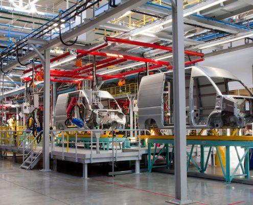 bedrijfswagen industrie binnenzijde polyurea