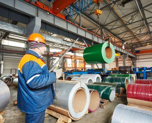 Rollen metaal industrie met polyurea coating